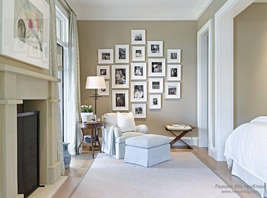при наличии ровных тонов стен, мебель должна быть всегда темнее или светлее;