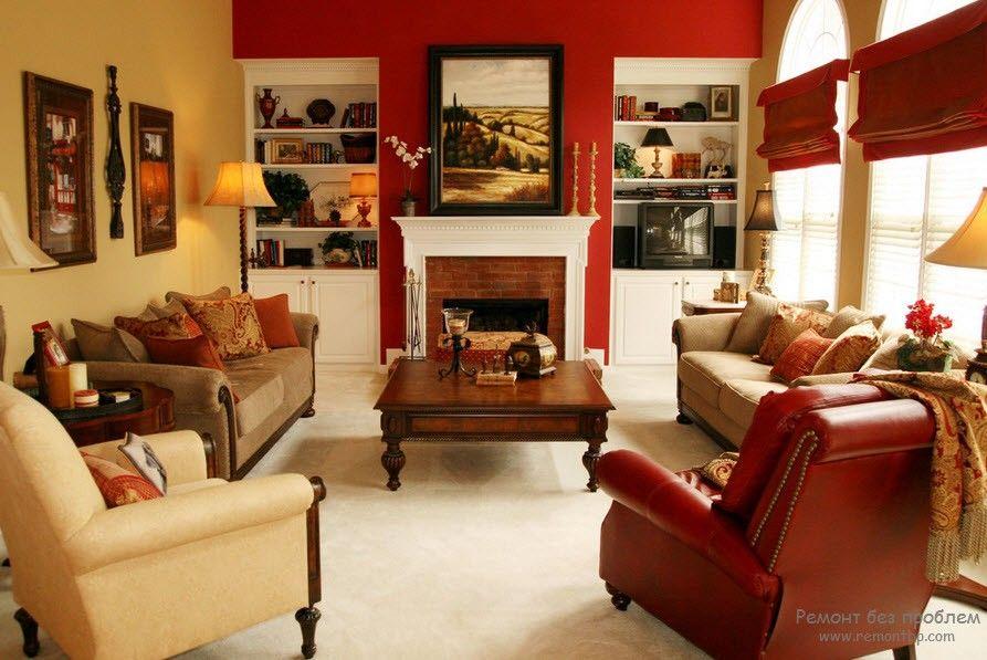 Красный – замечательно совмещается с зеленым, желтым, белым, серым и черным.
