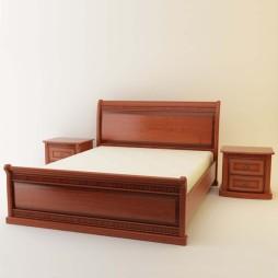 Кровать Милан-59-60 и Тумба прикроватная Милан-62
